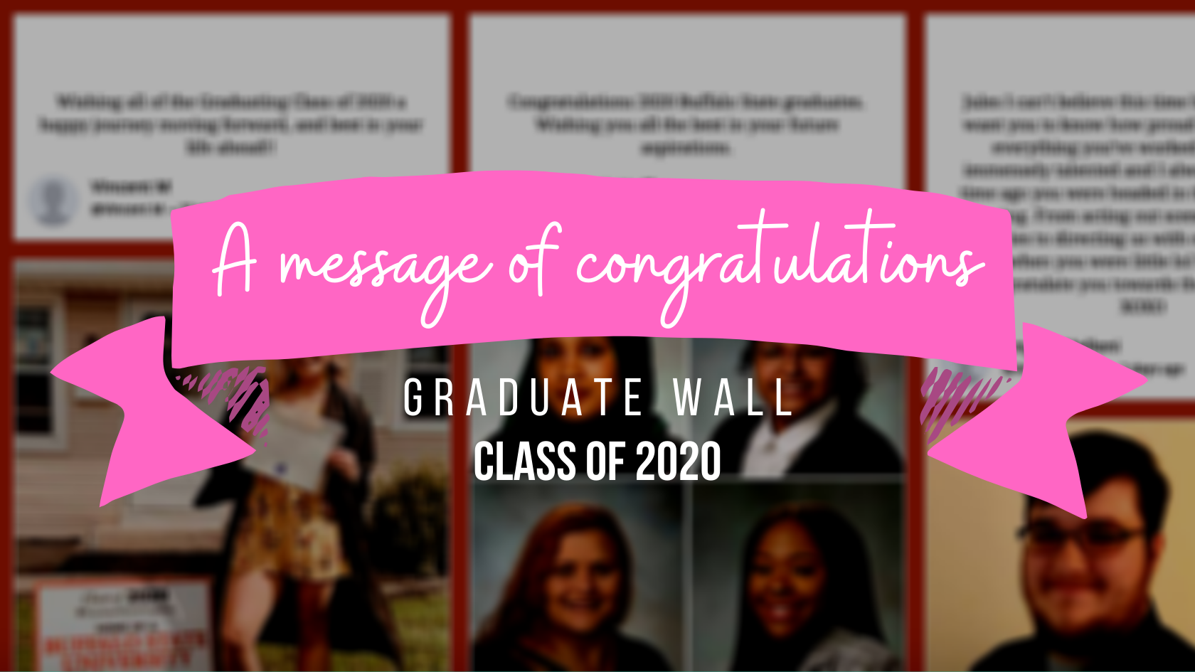 a message of congratulations graduate wall class of 2020