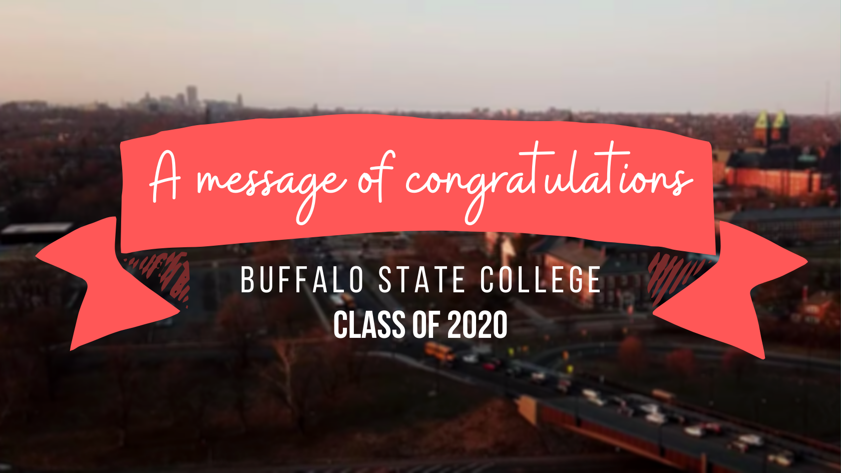 a message of congratulations buffalo state college class of 2020